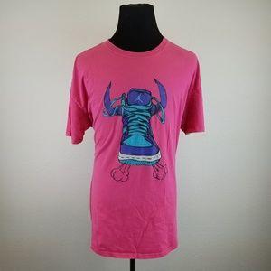 Jordan Mens Pink Sneaker T-shirt Size 3XL TB12